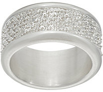 UltraFine Silver Margherita Chain Polished Band Ring - J349394