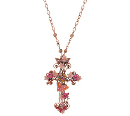 Kirks Folly Mother Earth Pink Heaven Cross Pin Enhancer