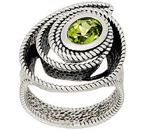 Or Paz Steling Silver 1.00ct Gemstone with Swirl Textured Ring - J354994