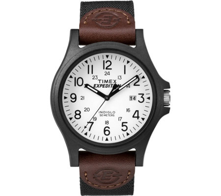 Timex Men's Expedition Acadia Brown and Black Strap Watch