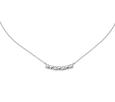 Sterling Heart Bar Necklace by Silver Style