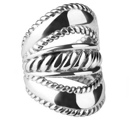 Carolyn Pollack Sterling Three-Row Ring