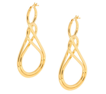 VicenzaGold Double Twist Figure Eight Earrings 14K Gold