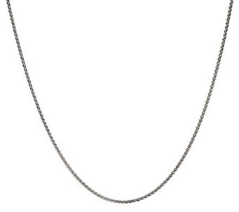 "JAI Sterling 18"" Fine Wheat Chain Necklace - J288195"
