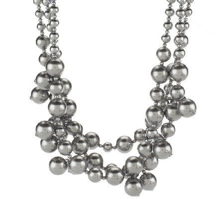 Kenneth Jay Lane's Simulated Pearl Cluster Necklace