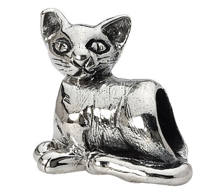 Prerogatives Sterling Oriental Cat Bead