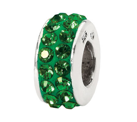 Prerogatives Sterling Green Double Row Swarovski Crystal Bead