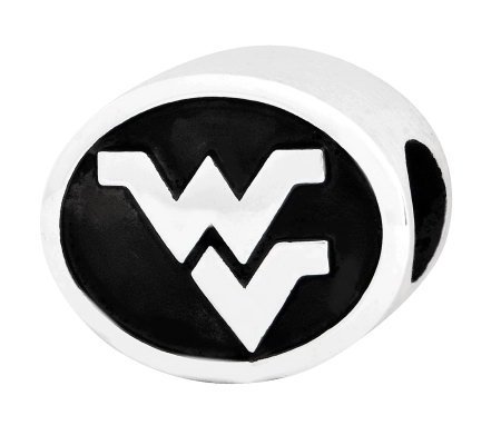 Sterling Silver West Virginia University Bead