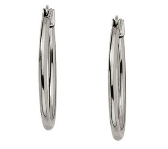Stainless Steel Oval Hoop Earrings - J302195