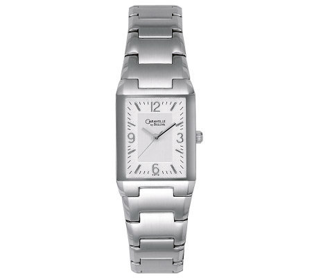 Caravelle by Bulova Women's Stainless Steel Rectangular Watch
