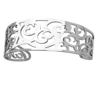 Stainless Steel Fancy Cuff Bracelet - J306595