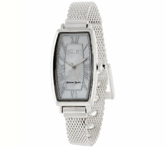 Ecclissi Mother-of-Pearl Dial Sterling Mesh Strap Watch - J317995