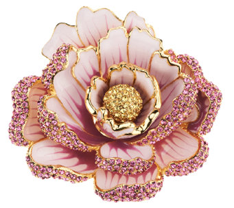 Joan Rivers Jeweled Blossoms Pave' Peony Pin - J318695