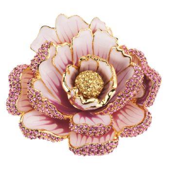 Joan Rivers Jeweled Blossoms Pave' Peony Pin