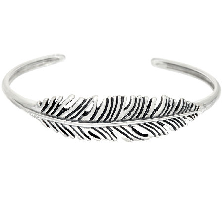 Sterling Silver Feather Design Cuff by American West