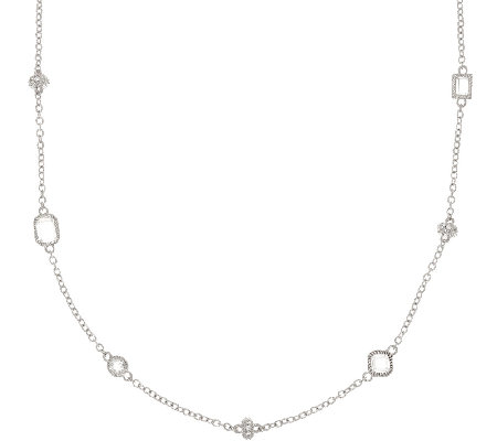 "Judith Ripka Sterling 18"" 8.25 cttw Diamonique Necklace"