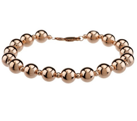 """As Is"" EternaGold 8"" Polished Bead Bracelet 14K Gold, 6.0g"