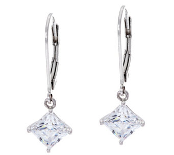 Diamonique 2.00 cttw Lever Back Earrings, Sterling, Boxed - J331295