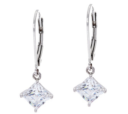 Diamonique 2.00 cttw Lever Back Earrings, Sterling, Boxed