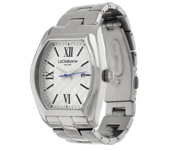 """As Is"" Liz Claiborne New York Heritage Collection Steel Watch - J333095"