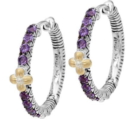 Barbara Bixby Sterling & 18K Astrology Hoop Earrings