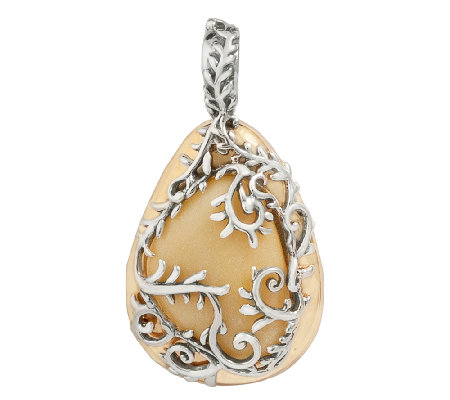 Carolyn Pollack Arbor Vine Sterling Silver andBrass Enhancer