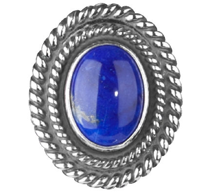 American West Treasures Sterling Lapis Magnetic Insert