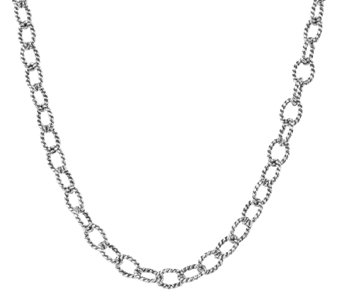 "Carolyn Pollack Sterling 16"" Twisted Rope ChainNecklace 11.2g - J338995"