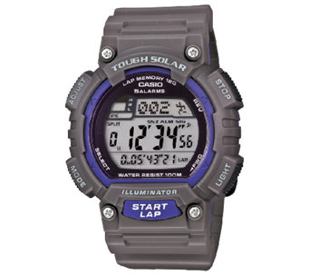 Casio Men's Gray Tough Solar Running Watch - J339295