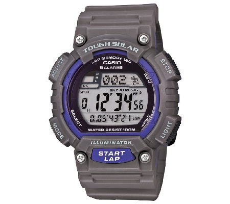 Casio Men's Gray Tough Solar Running Watch