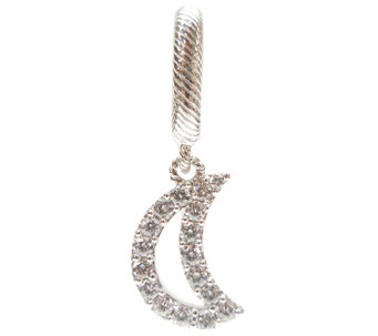 Judith Ripka Sterling Diamonique Crescent MoonCharm - J340195