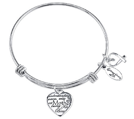 Sterling Expandable Mother Charm Bangle by Extraordinary Life