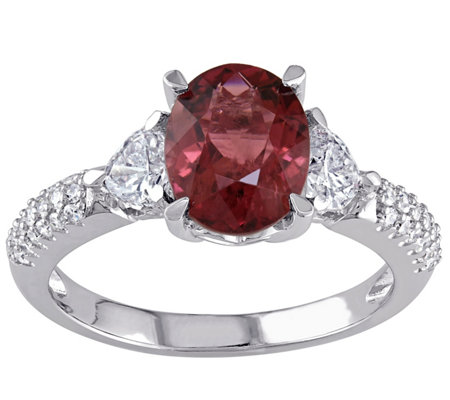 1.95 ct Tourmaline and 2/3 cttw Diamond Ring, 14K White Gold