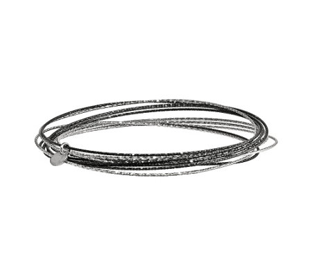 Sterling Multicolor Set of 10 Bangles