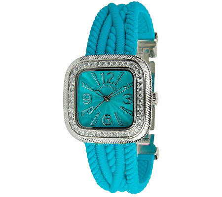 Judith Ripka Silicone Strap Watch