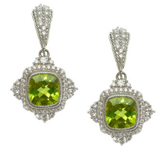 Judith Ripka Sterling Diamonique and PeridotDangle Earrings - J343795