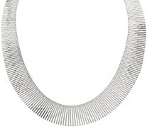 "Vicenza Silver Sterling Diamond Cut 18"" Collar Necklace, 43.9g - J345995"