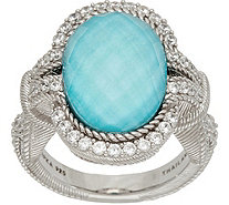 Judith Ripka Sterling Silver Turquoise Doublet Ring - J347895
