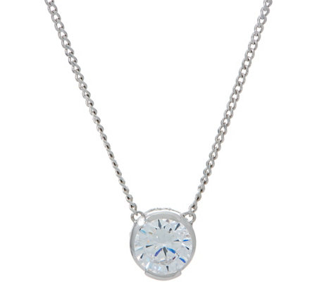 """As Is"" TOVA for Diamonique 2.00 cttw Round Pendant Necklace, Sterl"