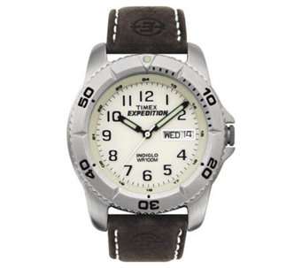 Timex Men's Expedition Watch with Brown LeatherBand - J102196