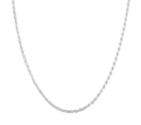 "Ultrafine Silver 16"" Rope Chain, 11.5g"