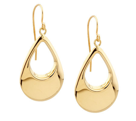 EternaGold Polished Teardrop Dangle Earrings 14K Gold