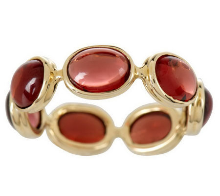 stackable cabochon gemstone eternity band ring 14k gold