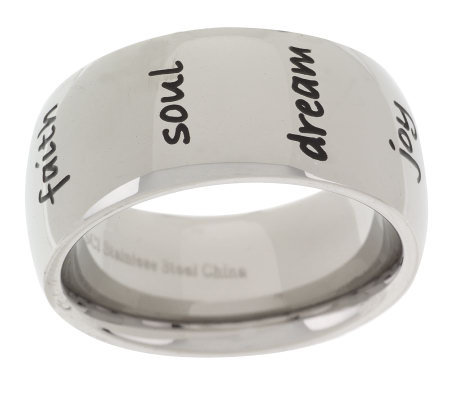 Steel by Design Inspirational Band Ring