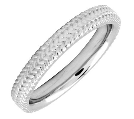 Simply Stacks Sterling 3.25mm Braid Ring