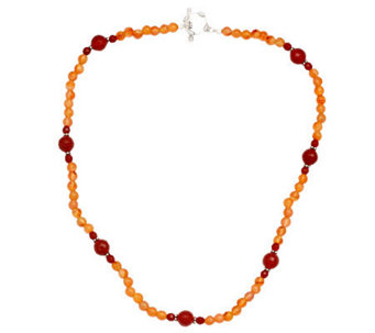 Novica Artisan Crafted Sterling Carnelian Necklace - J308496