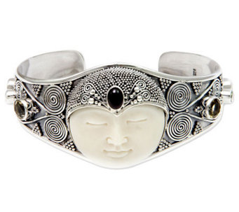 Novica Artisan Crafted Sterling 'Queen' Cuff - J310796