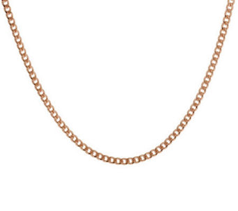 "Bronze 16"" Polished Curb Link Necklace byBronzo Italia - J312896"