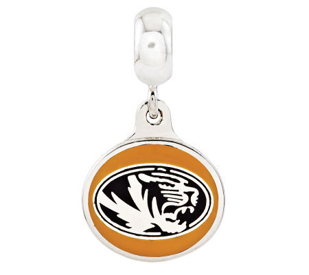 Sterling Silver University of Missouri Dangle Bead