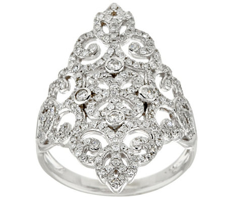 Lace & Filigree Design Diamond Ring  14K, 3/4 cttw, by Affinity